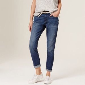 LOFT distressed relaxed skinny blue jeans 26 0016